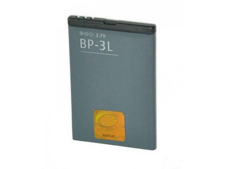 Фирменная аккумуляторная батарея 1300mah BP-3L  на телефон Nokia 603/Asha 303/Lumia 710/610 + гарантия..