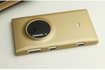 Фирменная роскошная элитная задняя панель-крышка пластиковая для Nokia Lumia 1020 золотая