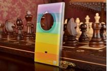 """Фирменная необычная из легчайшего и тончайшего пластика задняя панель-чехол-накладка для Nokia Lumia 1020 """"тематика Все цвета Радуги"""""""