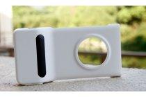 Фирменный оригинальный  фоточехол-крышка PD-95G со встроенным аккумулятором на 1020 mAh  для Nokia Lumia 1020 белый
