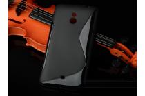 Фирменная ультра-тонкая полимерная из мягкого качественного силикона задняя панель-чехол-накладка для  Nokia Lumia 1320 черная