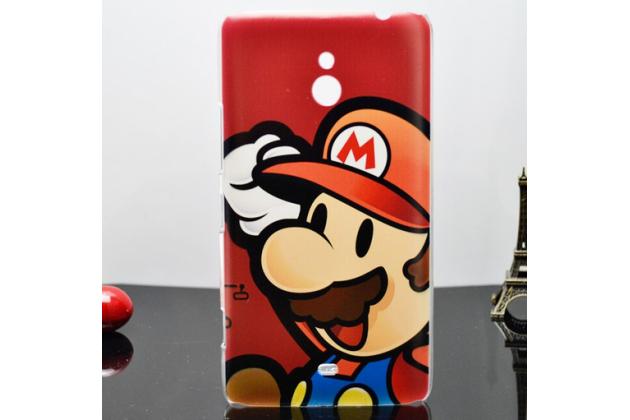 """Фирменная необычная уникальная пластиковая задняя панель-чехол-накладка для Nokia Lumia 1320 """"тематика супер Марио"""""""