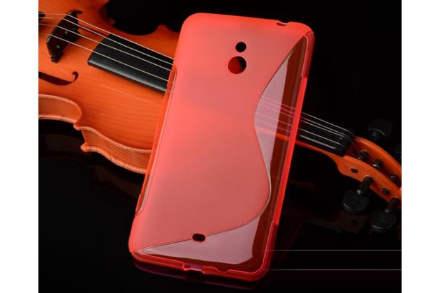 Фирменная ультра-тонкая полимерная из мягкого качественного силикона задняя панель-чехол-накладка для Nokia Lumia 1320 красная