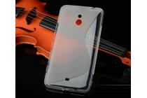 Фирменная ультра-тонкая полимерная из мягкого качественного силикона задняя панель-чехол-накладка для Nokia Lumia 1320 серая