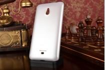 Фирменная задняя панель-крышка-накладка из тончайшего и прочного пластика для Nokia Lumia 1320 белая