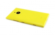 Фирменная родная оригинальная задняя крышка, которая шла в комплекте для Nokia Lumia 1520 желтая