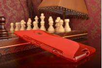 Фирменная ультра-тонкая полимерная из мягкого качественного силикона задняя панель-чехол-накладка для Nokia Lumia 1520 красная
