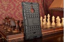 Противоударный усиленный ударопрочный фирменный чехол-бампер-пенал для Nokia Lumia 1520 черный