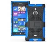 Противоударный усиленный ударопрочный фирменный чехол-бампер-пенал для Nokia Lumia 1520 синий..
