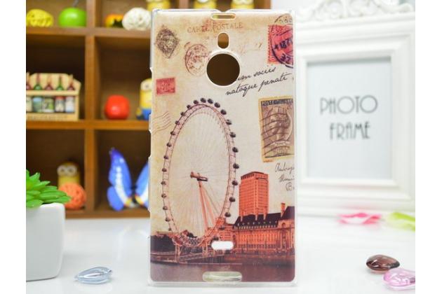 """Фирменная необычная из легчайшего и тончайшего пластика задняя панель-чехол-накладка для Nokia Lumia 1520 """"тематика Лондонский глаз"""""""