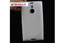 Фирменная ультра-тонкая полимерная из мягкого качественного силикона задняя панель-чехол-накладка для  Nokia Lumia 1520 белая