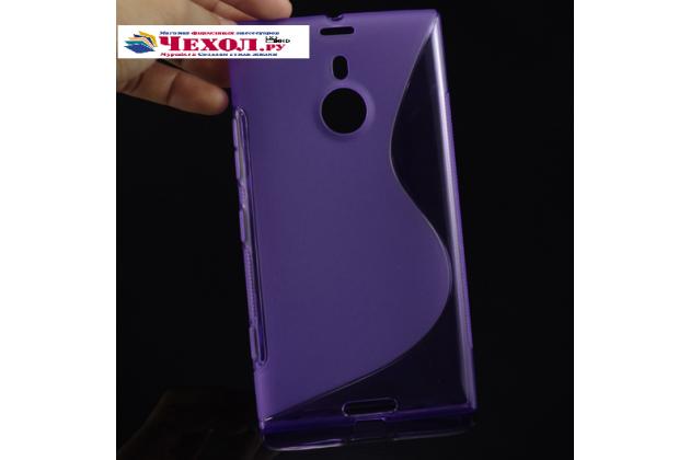 Фирменная ультра-тонкая полимерная из мягкого качественного силикона задняя панель-чехол-накладка для Nokia Lumia 1520 фиолетовая
