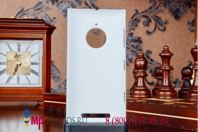 Фирменная задняя панель-крышка из тончайшего и прочного пластика для Nokia Lumia 1520 белая