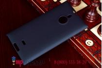 Фирменная задняя панель-крышка-накладка из тончайшего и прочного пластика для Nokia Lumia 1520 черная