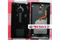 Фирменная родная оригинальная задняя крышка с функцией беспроводной зарядки и логотипом для Nokia Lumia 1520 черная