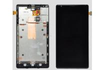 Фирменный LCD-ЖК-сенсорный дисплей-экран-стекло с тачскрином на телефон Nokia Lumia 1520 черный и инструменты для вскрытия + гарантия