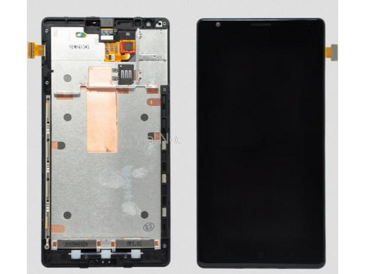 Фирменный LCD-ЖК-сенсорный дисплей-экран-стекло с тачскрином на телефон Nokia Lumia 1520 черный и инструменты ..