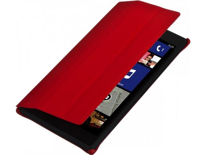 Фирменный оригинальный ультра-тонкий чехол книжка с логотипом CP-623 для Nokia Lumia 1520 красный..