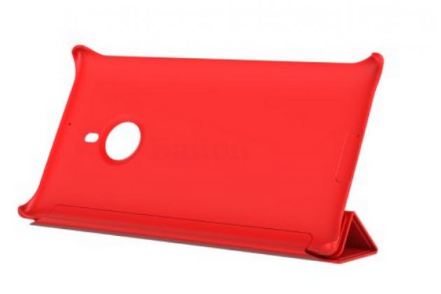 Фирменный оригинальный ультра-тонкий чехол книжка с логотипом CP-623 для Nokia Lumia 1520 красный
