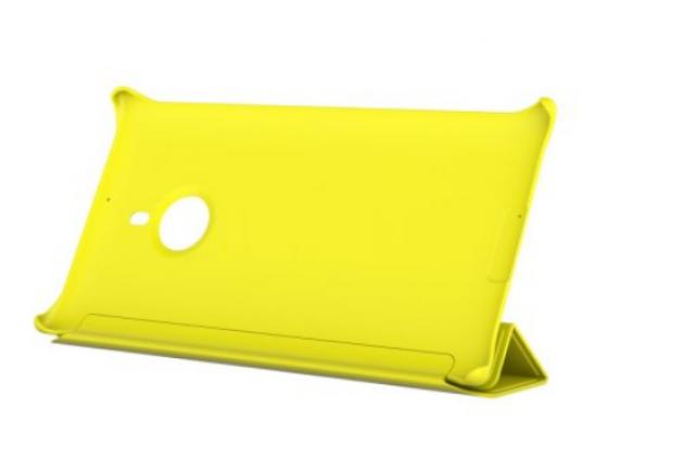Фирменный оригинальный ультра-тонкий чехол книжка с логотипом CP-623 для Nokia Lumia 1520 желтый
