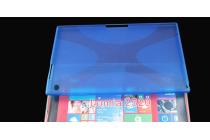 Фирменная ультра-тонкая полимерная из мягкого качественного силикона задняя панель-чехол-накладка для Nokia Lumia 2520 синяя