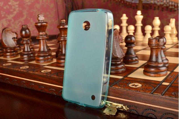 Фирменная ультра-тонкая полимерная мягкая задняя панель-чехол-накладка для Nokia Lumia 630 Dual sim зеленая
