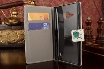 """Фирменный уникальный необычный чехол-книжка для Nokia Lumia 730 Dual sim  """"тематика Сова"""""""
