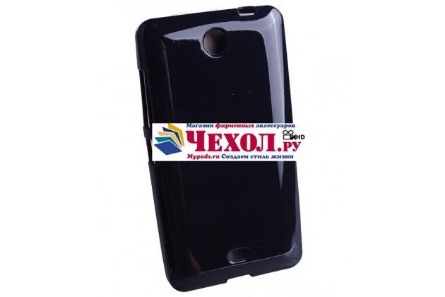 Фирменная ультра-тонкая силиконовая задняя панель-чехол-накладка для Nokia Lumia 800/800C черная