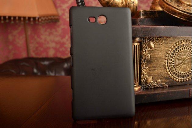 Фирменная задняя панель-крышка-накладка из тончайшего и прочного пластика для Nokia Lumia 820 черная