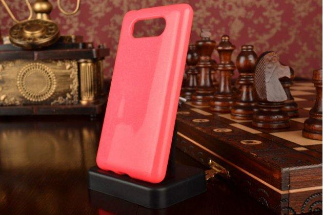 Противоударный усиленный ударопрочный фирменный чехол-бампер-пенал для Nokia Lumia 820 розовый