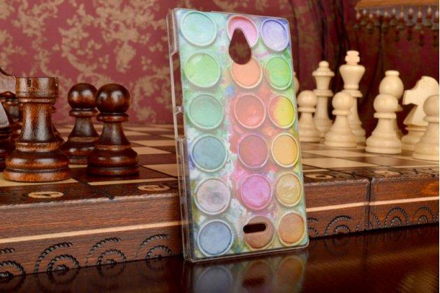"""Фирменная необычная из легчайшего и тончайшего пластика задняя панель-чехол-накладка для Nokia X2 Dual sim """"тематика Краски"""""""