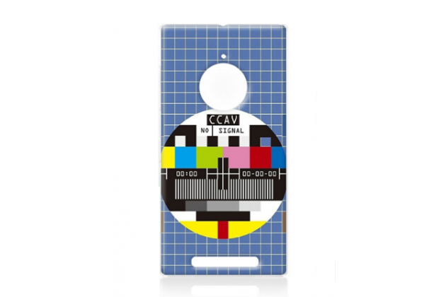"""Фирменная необычная из легчайшего и тончайшего пластика задняя панель-чехол-накладка для Nokia Lumia 830  """"тематика Нет сигнала"""""""