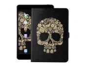 Фирменный чехол-обложка с безумно красивым расписным рисунком черепа для планшета Nokia N1 Tablet 7.9 черный к..