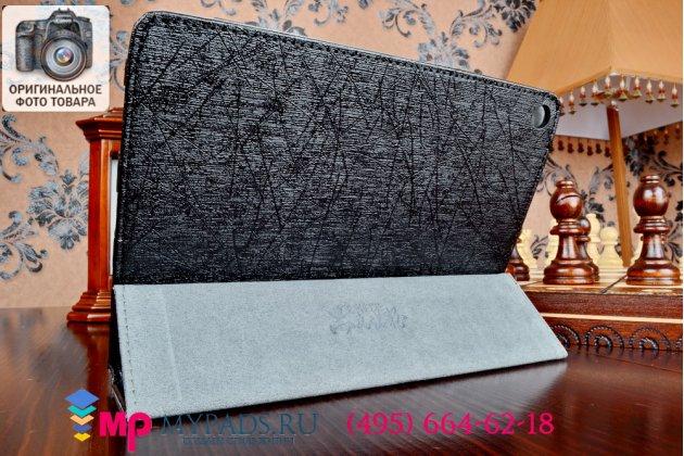 Фирменный чехол обложка с подставкой для Nokia N1 черный кожаный