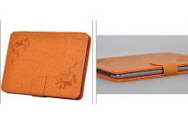 """Фирменный чехол с красивым узором для планшета Nokia N1 Tablet 7.9"""" оранжевый натуральная кожа Италия"""