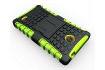 Противоударный усиленный ударопрочный фирменный чехол-бампер-пенал для Nokia X Dual sim зелёный