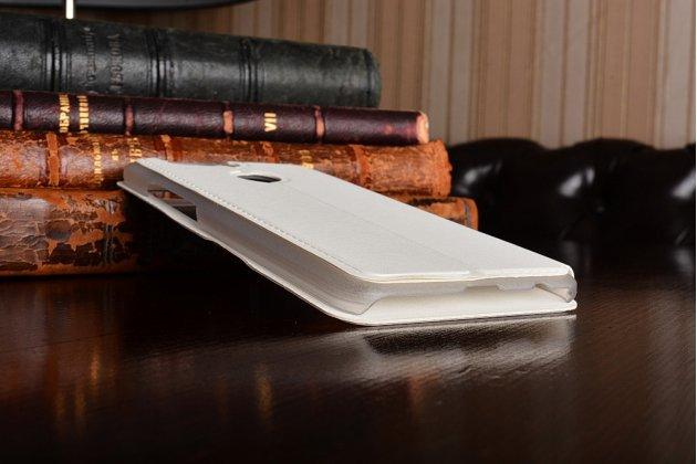 Фирменный оригинальный чехол-книжка для Huawei Honor 8 Pro 5.7/Huawei Honor V9 5.7(DUK-AL20) белый с окошком для входящих вызовов водоотталкивающий