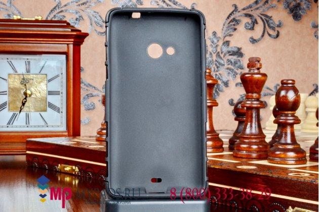 Противоударный усиленный грязестойкий фирменный чехол-бампер-пенал для Microsoft Lumia 535