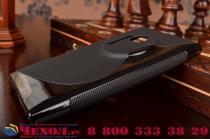 Фирменная ультра-тонкая полимерная из мягкого качественного силикона задняя панель-чехол-накладка для Nokia Lumia 1020 черная