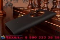 Фирменная задняя панель-крышка-накладка из тончайшего и прочного пластика для Nokia Lumia 1020 черная