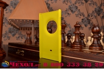 Фирменная задняя панель-крышка-накладка из тончайшего и прочного пластика для Nokia Lumia 1020 желтая