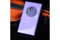Фирменная ультра-тонкая полимерная из мягкого качественного силикона задняя панель-чехол-накладка для Nokia Lumia 1020 фиолетовая