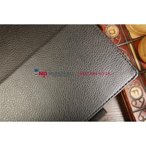 Чехол-обложка для Nokia Lumia 2520 черный кожаный
