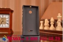 Противоударный усиленный ударопрочный фирменный чехол-бампер-пенал для Microsoft Lumia 435 черный