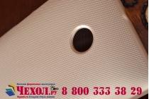 Фирменная задняя панель-крышка-накладка из тончайшего и прочного пластика для Microsoft Lumia 435 золотая