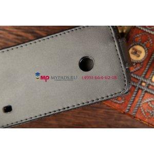 Чехол-книжка для Nokia Lumia 520 черный кожаный