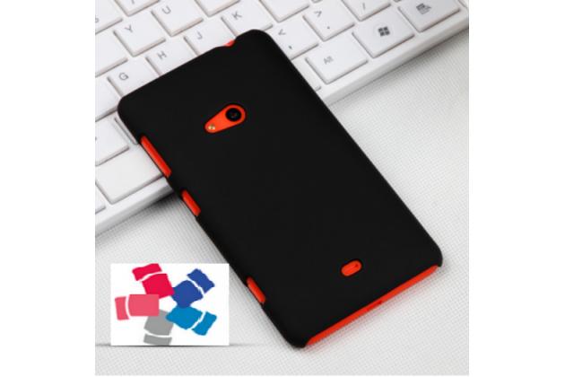 Фирменная задняя панель-крышка-накладка из тончайшего и прочного пластика для Nokia Lumia 625 черная