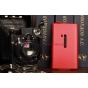 Чехол-флип для Nokia Lumia 920 красный кожаный..