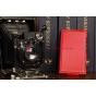 Чехол-флип для Nokia Lumia 920 красный кожаный