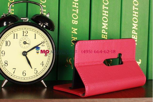 Чехол-книжка для Nokia Lumia 920 розовый кожаный
